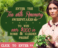 Enter the TEA WITH ROSEMARY Giveaway!